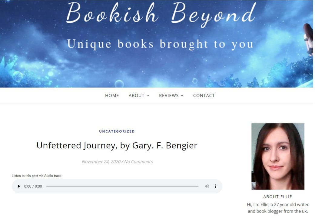Bookish Beyond Review of Unfettered Journey